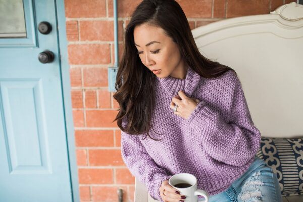abella turtleneck anthropologie purple sweater