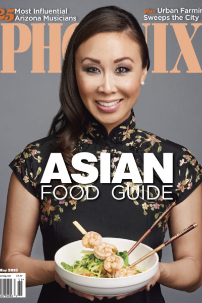 phoenix magazine asian food guide Diana Elizabeth photographer and blogger on cover
