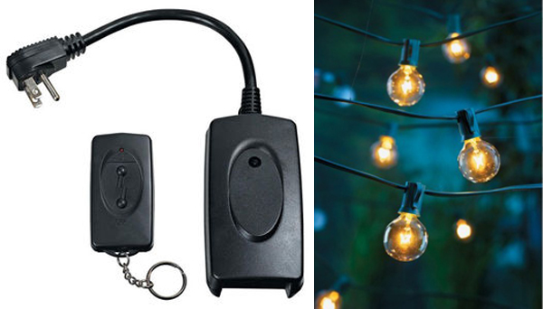 How to make your outdoor string lights on a wireless remote