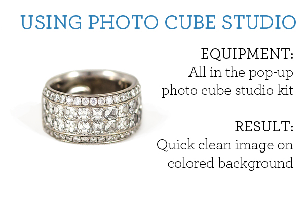 using the photo cube studio kit, everything for $70