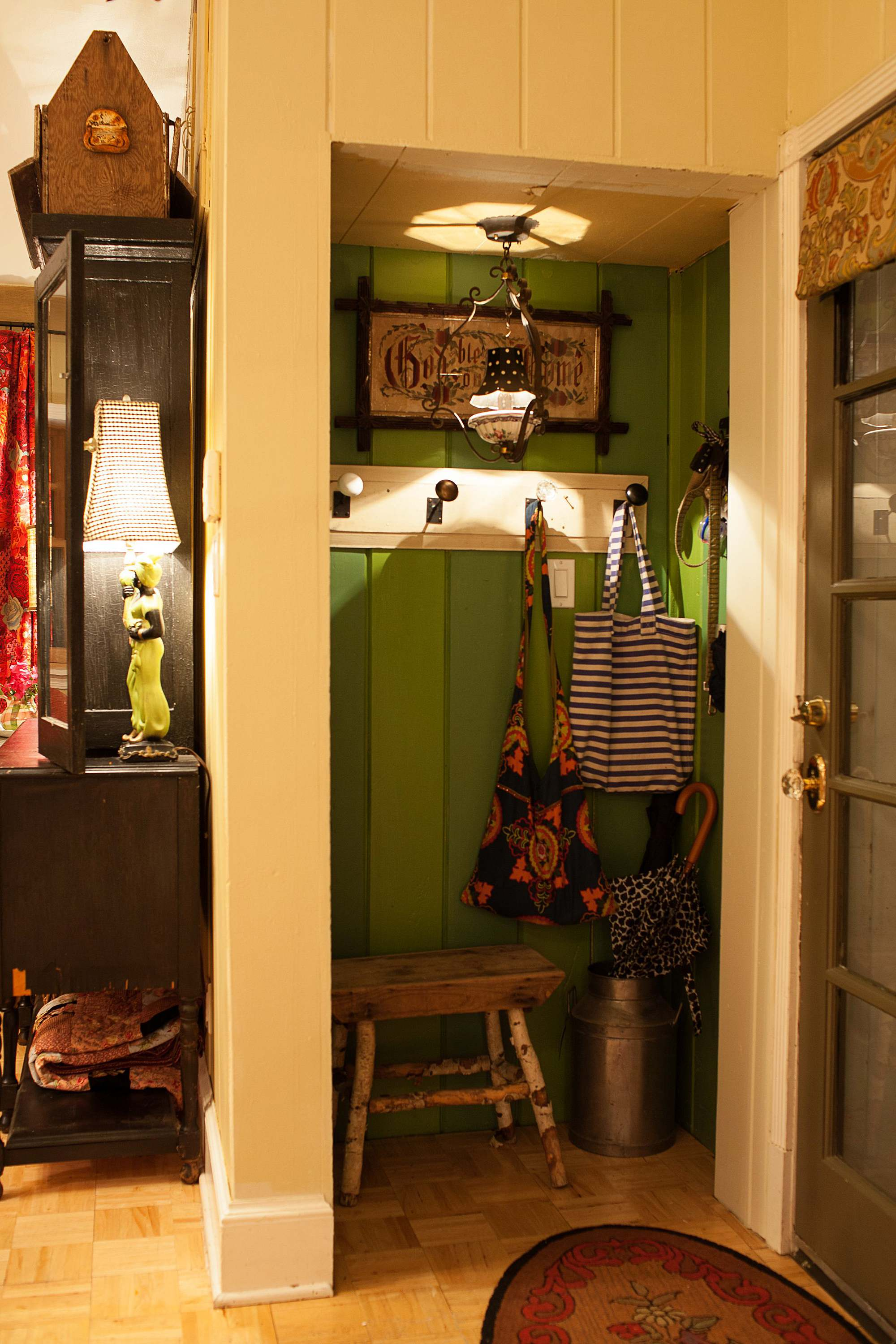county closet with cozy details English cottage style Phoenix arizona see the home tour!