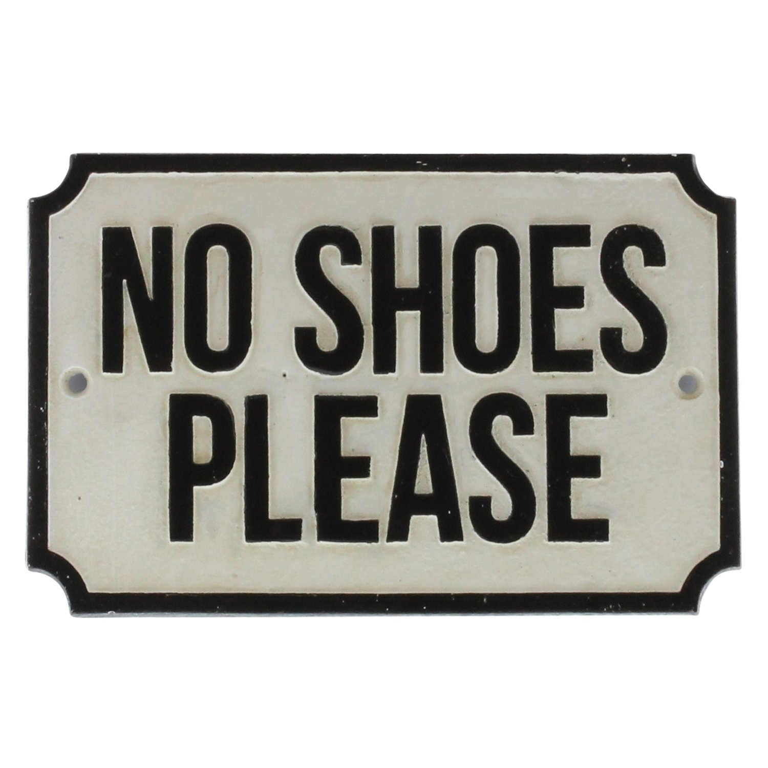 no shoes sign