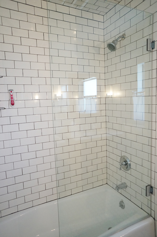 New Half Glass Shower Door Diana Elizabeth