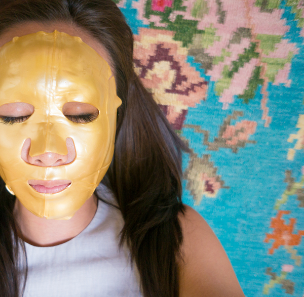 24kt gold facial mask before and after review