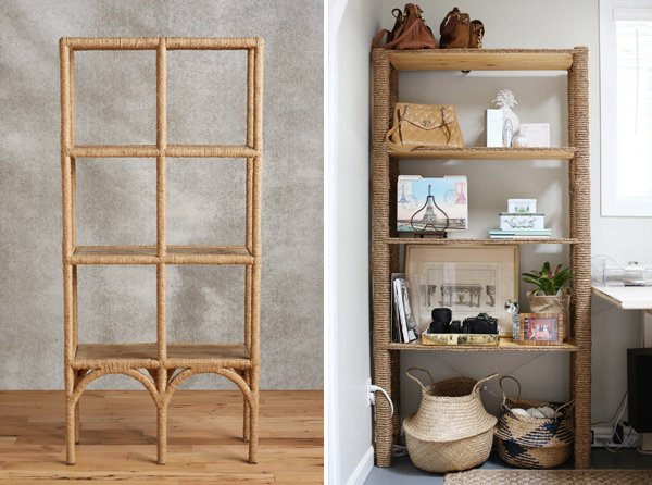 DIY IKEA Hack - Rope Bookshelf