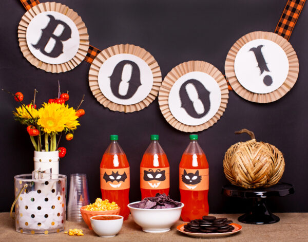 Halloween Decor with Orange Soda: Pumpkin Printable