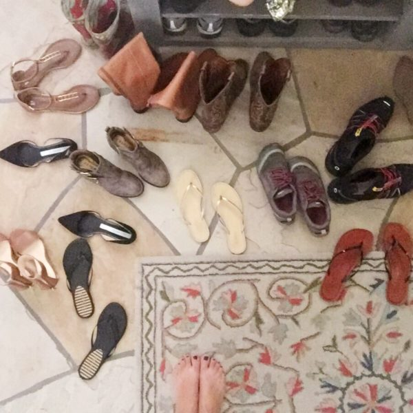 How to enforce a no shoe policy with guests