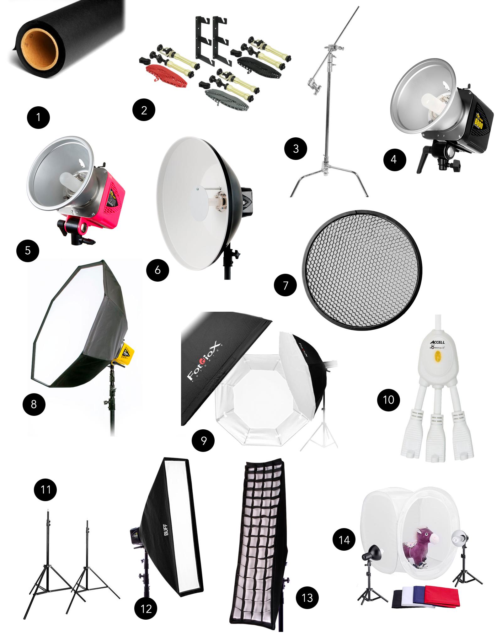 photo studio equipment ideas