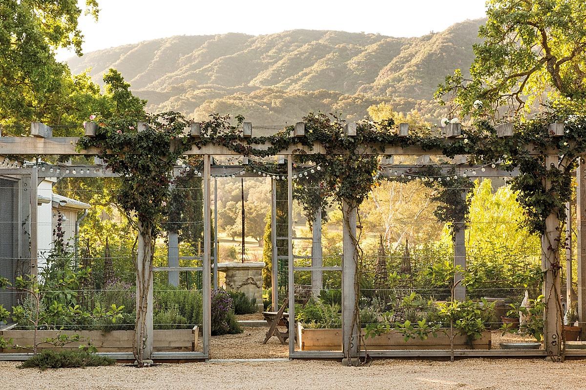 The garden at Patina Farm, the homse of Brooke & Steve Giannetti, in Ojai California.