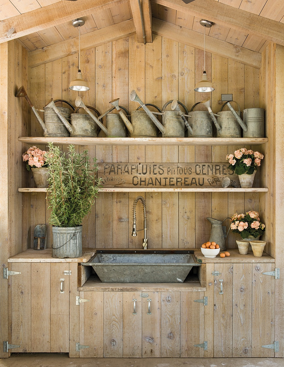 The chicken coop at Patina Farm, the home of Brooke and Steven Giannetti in Ojai, CA.  Architecture by Steven Giannetti and interior design by Brooke Giannetti.