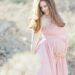 pink dusty rose dress maternity in desert idea baby girl (c) diana elizabeth photography, llc www.dianaelizabeth.com