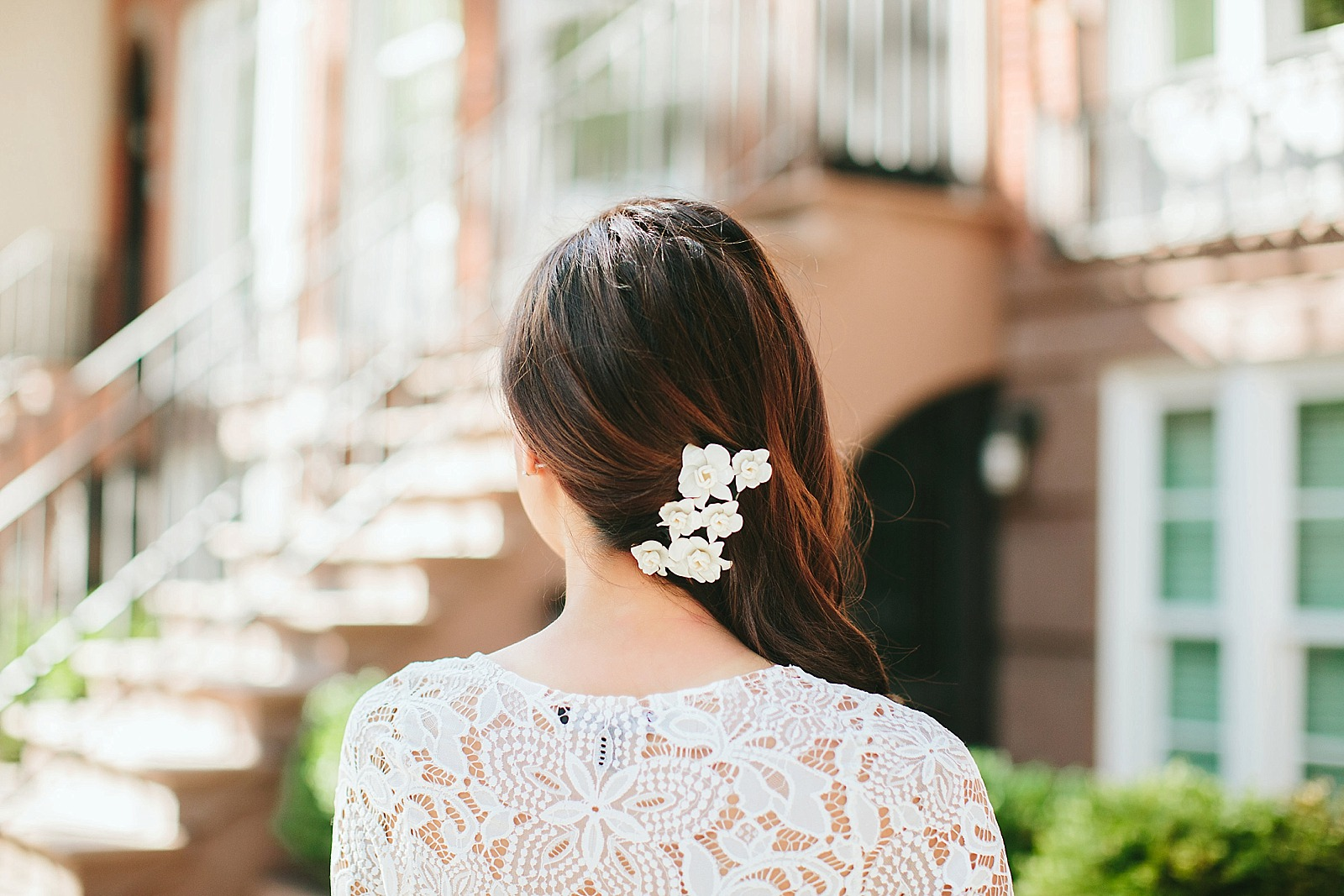 white lace dress streets of brooklyn / diana elizabeth / www.dianaelizabethblog.com