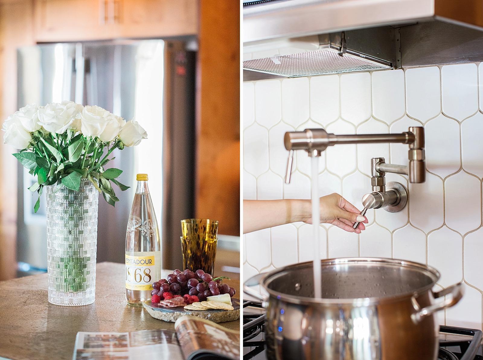 White kitchen backsplash remodel | Diana Elizabeth