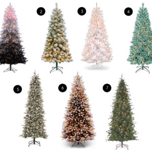 slim christmas tree ideas options coastal prelit white ombre