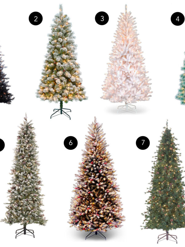 slim christmas tree ideas options coastal prelit white ombre
