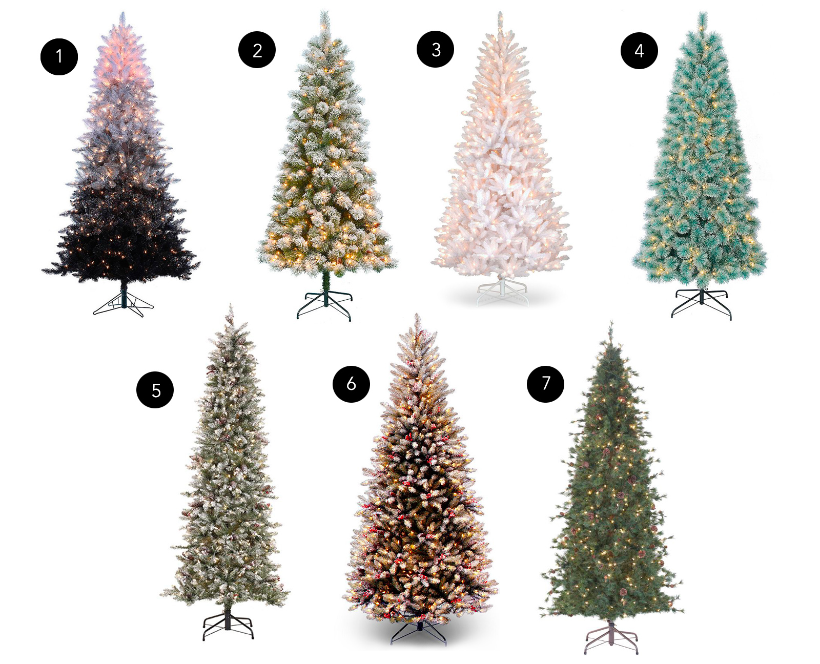 Slim Christmas Trees Numbers