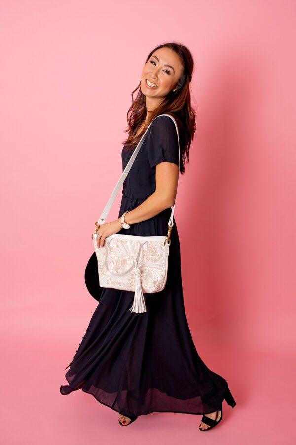 Handmade tooled handbag