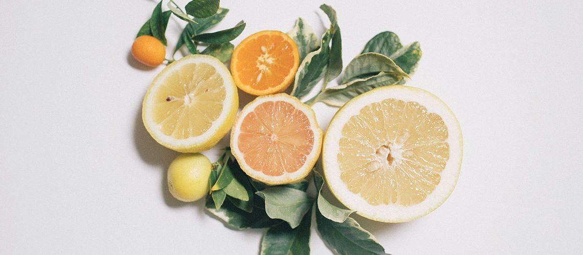 food photography citrus pink lemon grapefruit