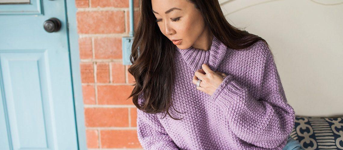 abella turtleneck anthropologie purple sweater