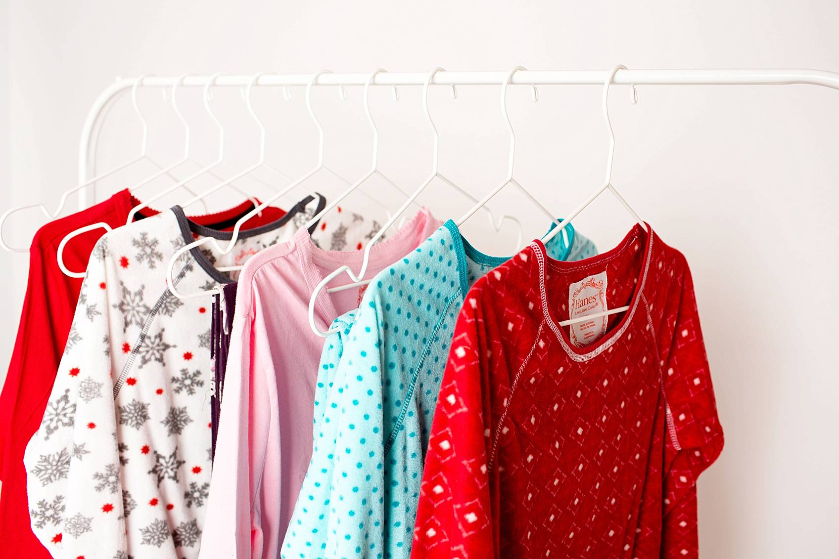photo studio work in phoenix arizona pajamas hanging on Ikea hanger