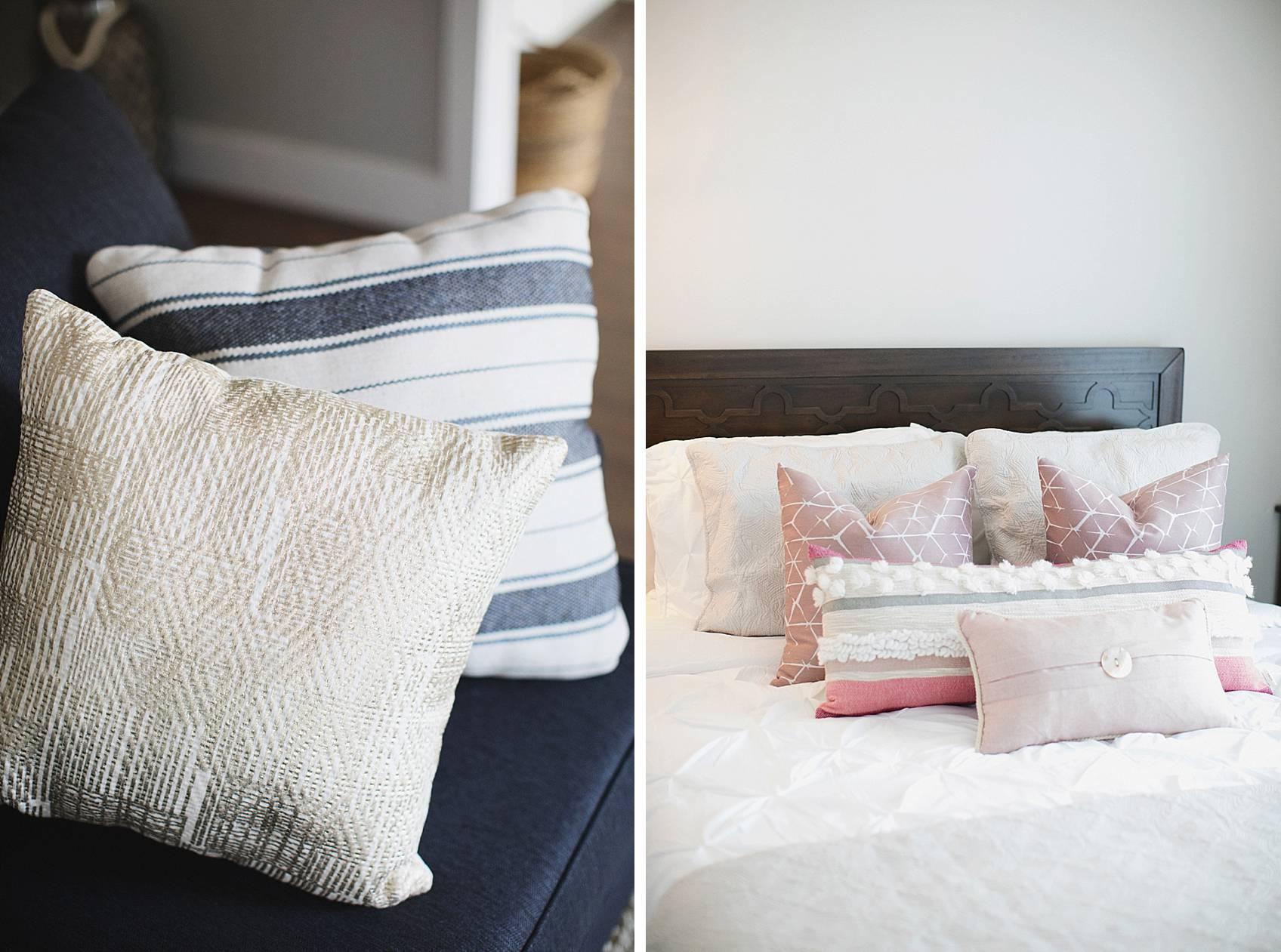 textured pillows to showcase bohemian decor