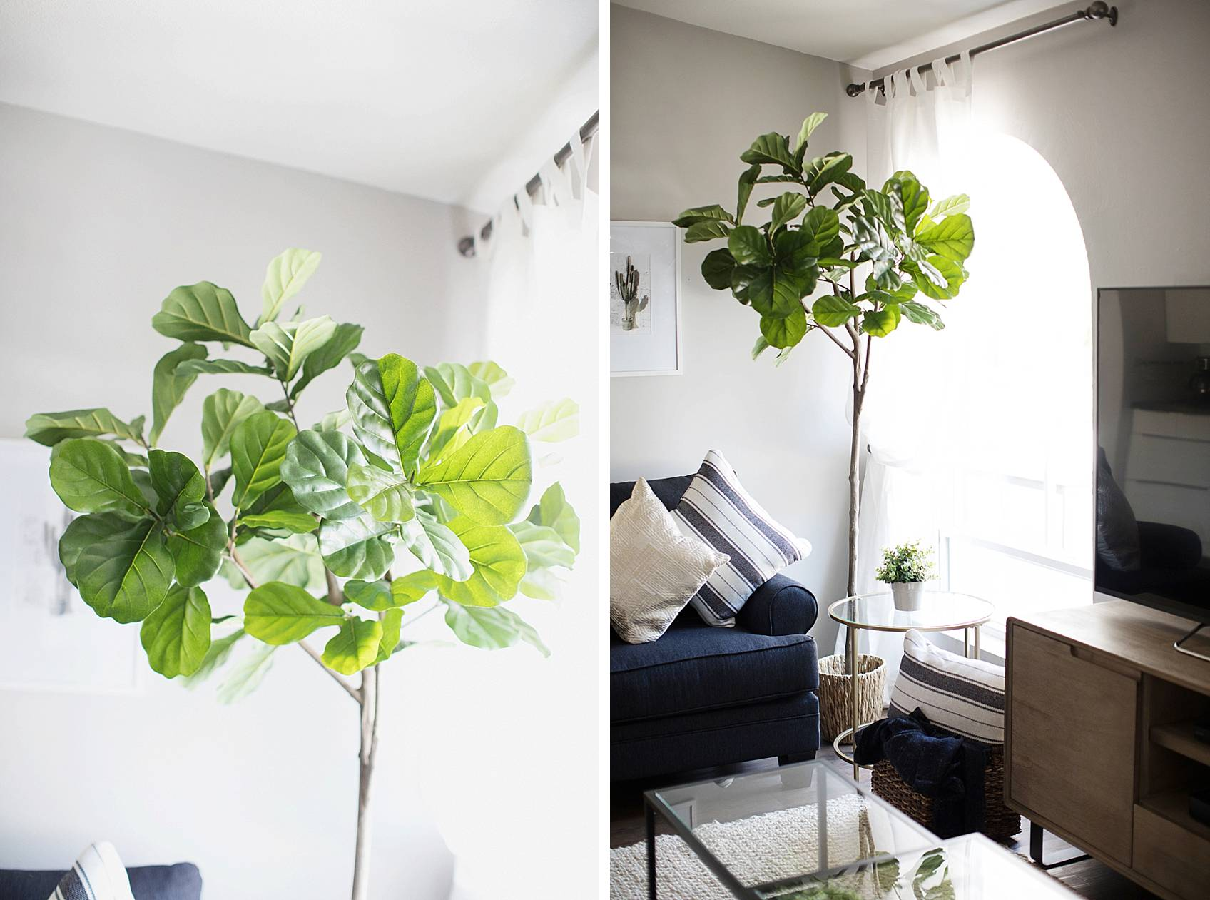 faux fiddle leaf fig plant from home goods
