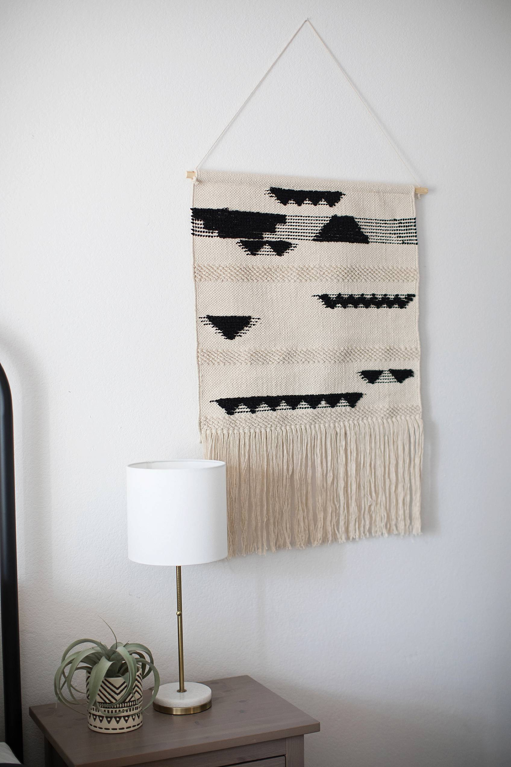textured wall hanging for boho look