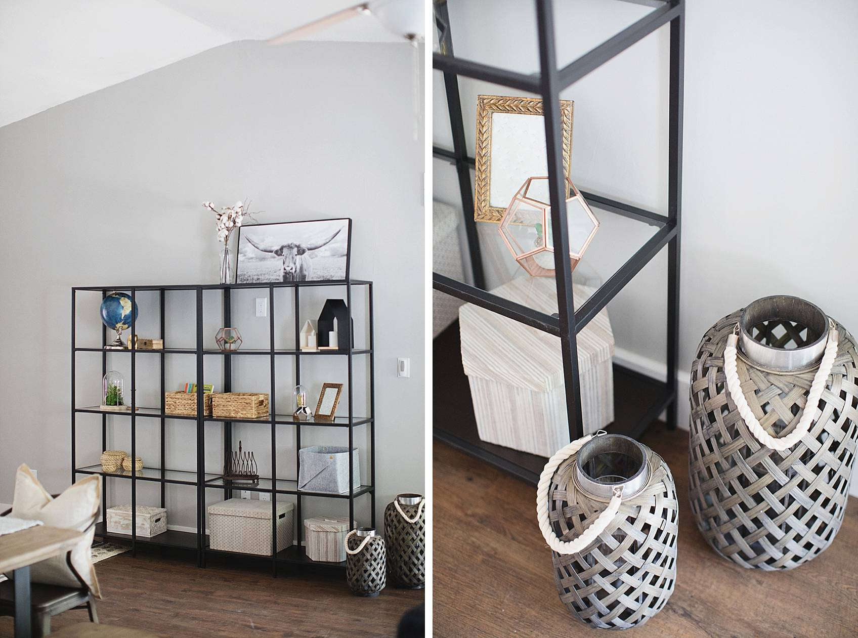 styling a bookcase showcase boho home trend