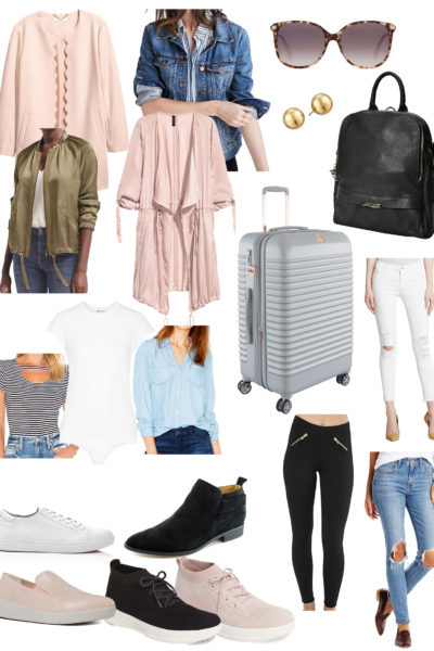 blush scalloped jacket from h&m blush blues and blacks packing for Prague ideas