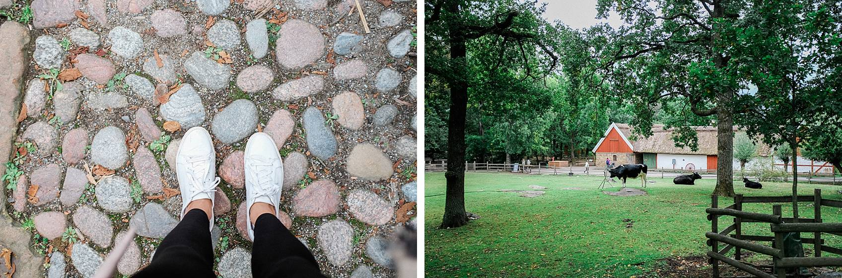 Photo tour of Stockholm: shoe shot on rock streets and skansen