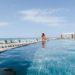 Lifestyle blogger Diana Elizabeth in Puerto Penasco Rocky Point Mexico in infinity pool at las palomas