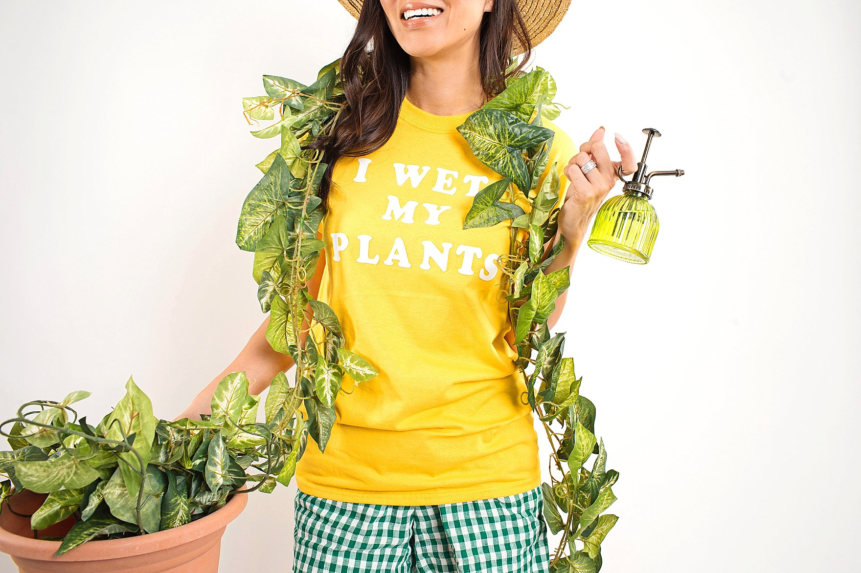 crazy plant lady costume halloween last minute funny plant shirts I wet my plants