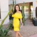 yellow ruffle dress on lifestyle blogger diana Elizabeth at heard museum