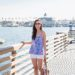 Lilly Pulitzer DUSK RACER BACK SILK TANK TOP, walking on Balboa Island