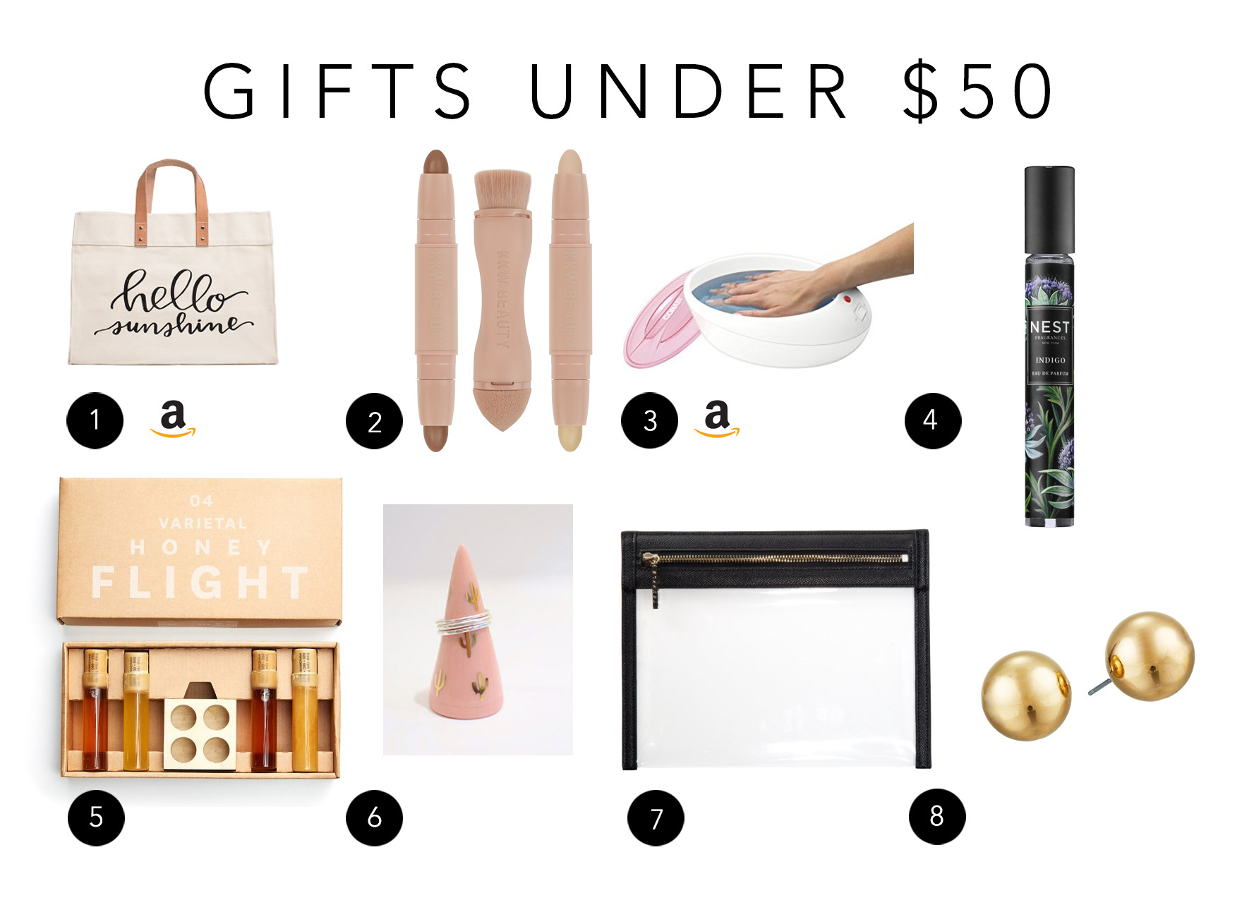 gift guide Christmas gifts under $50 list