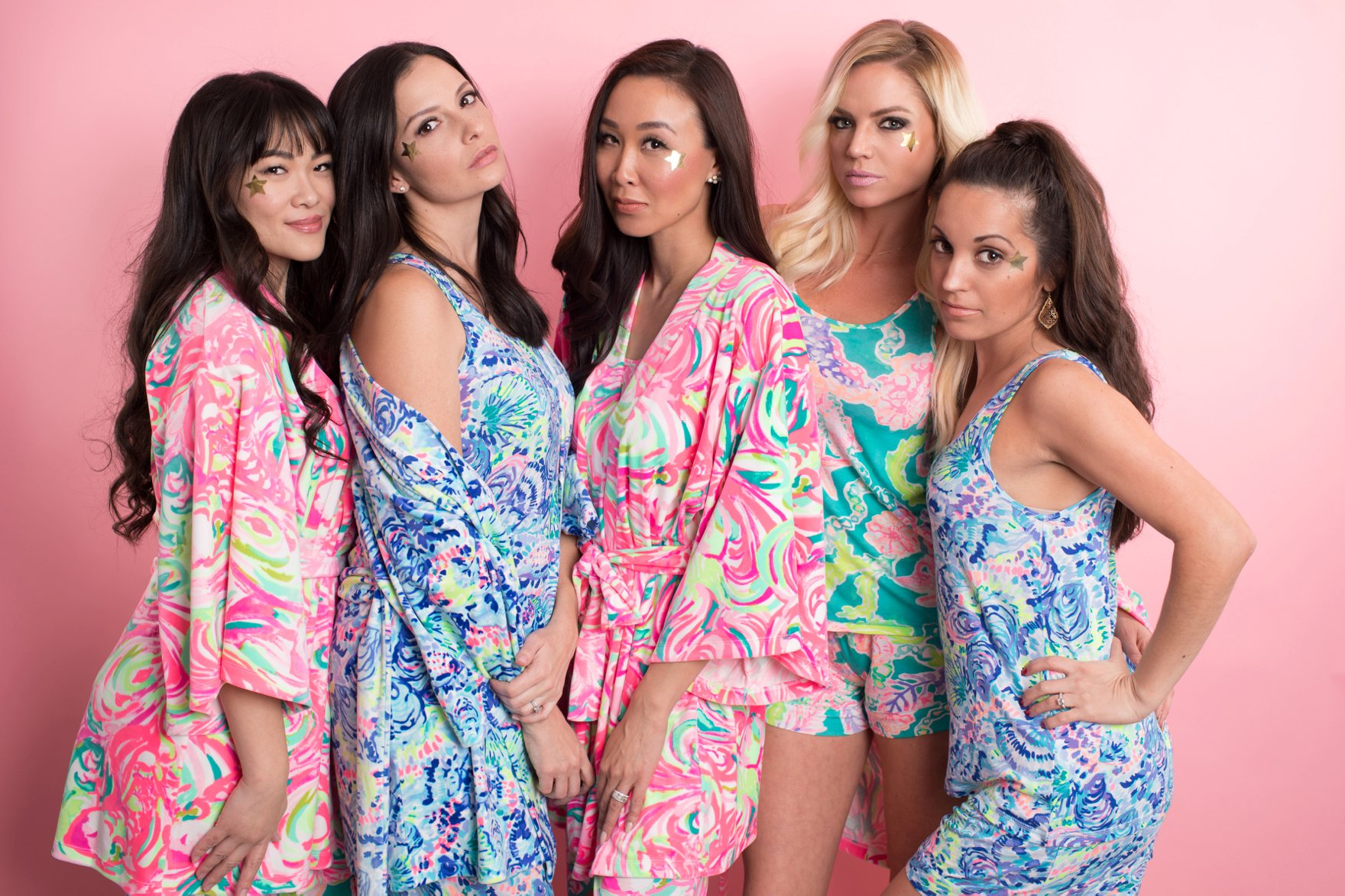 Lilly Pulitzer Christmas pajama party