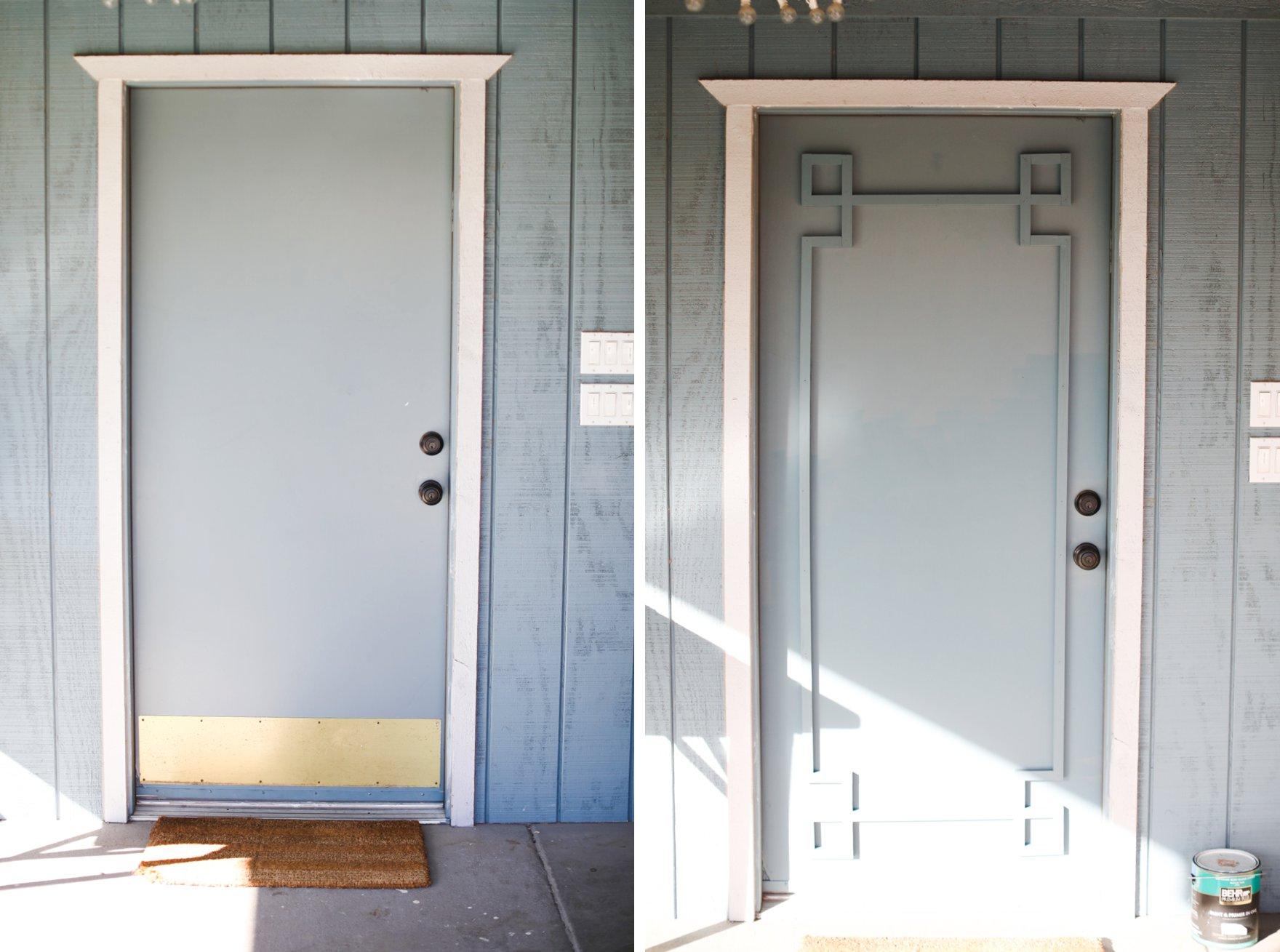 trim storage door greek key style for flat panel door