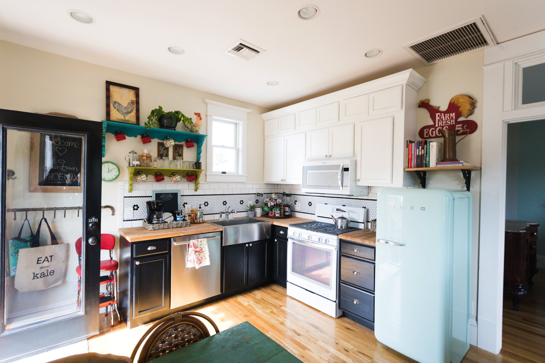 carriage house downtown boho farm and home kitchen
