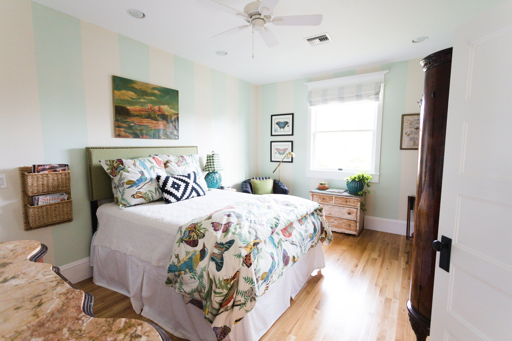 carriage house downtown boho farm and home bedroom