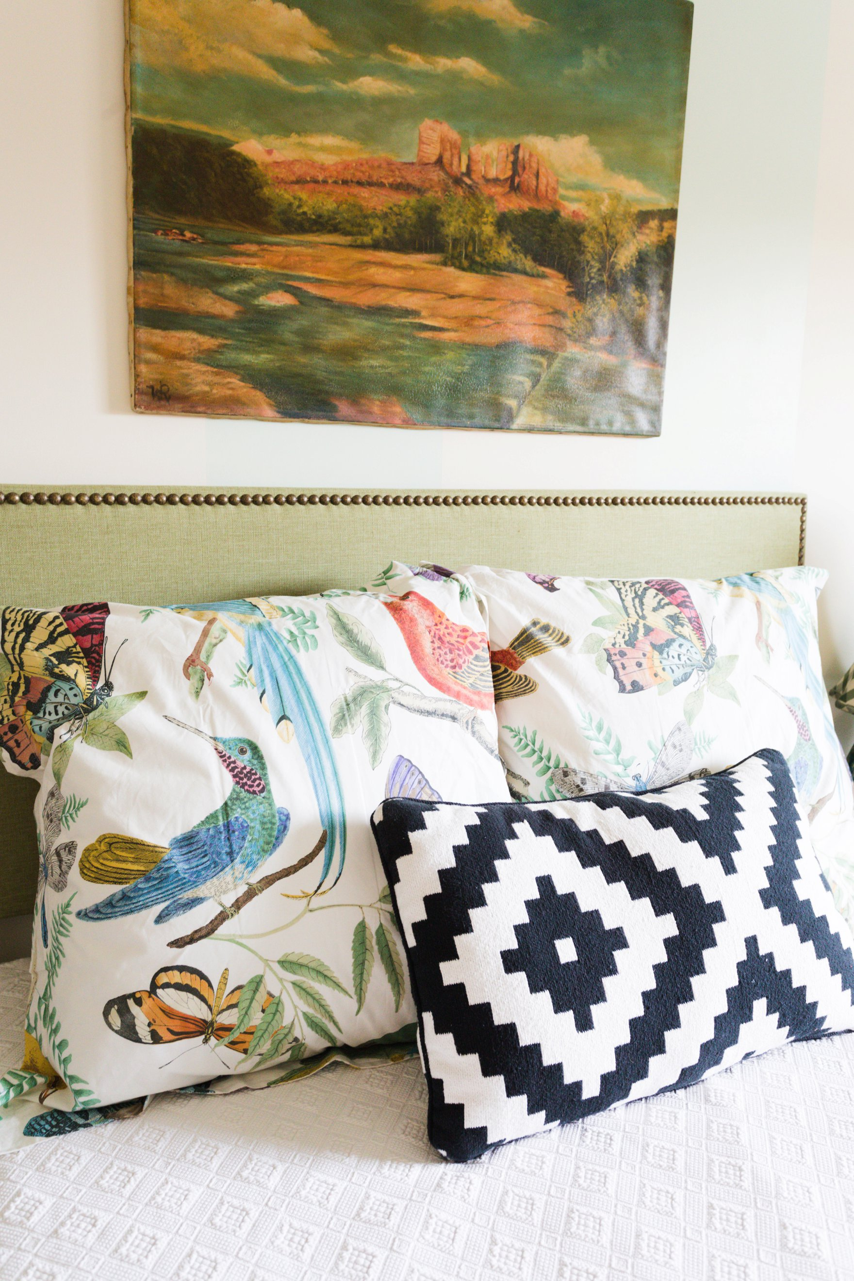 carriage house downtown boho farm and home bed room