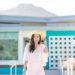 Lilly Pulitzer VEA TUNIC DRESS pink pom dress resort on Diana Elizabeth phoenix lifestyle blogger
