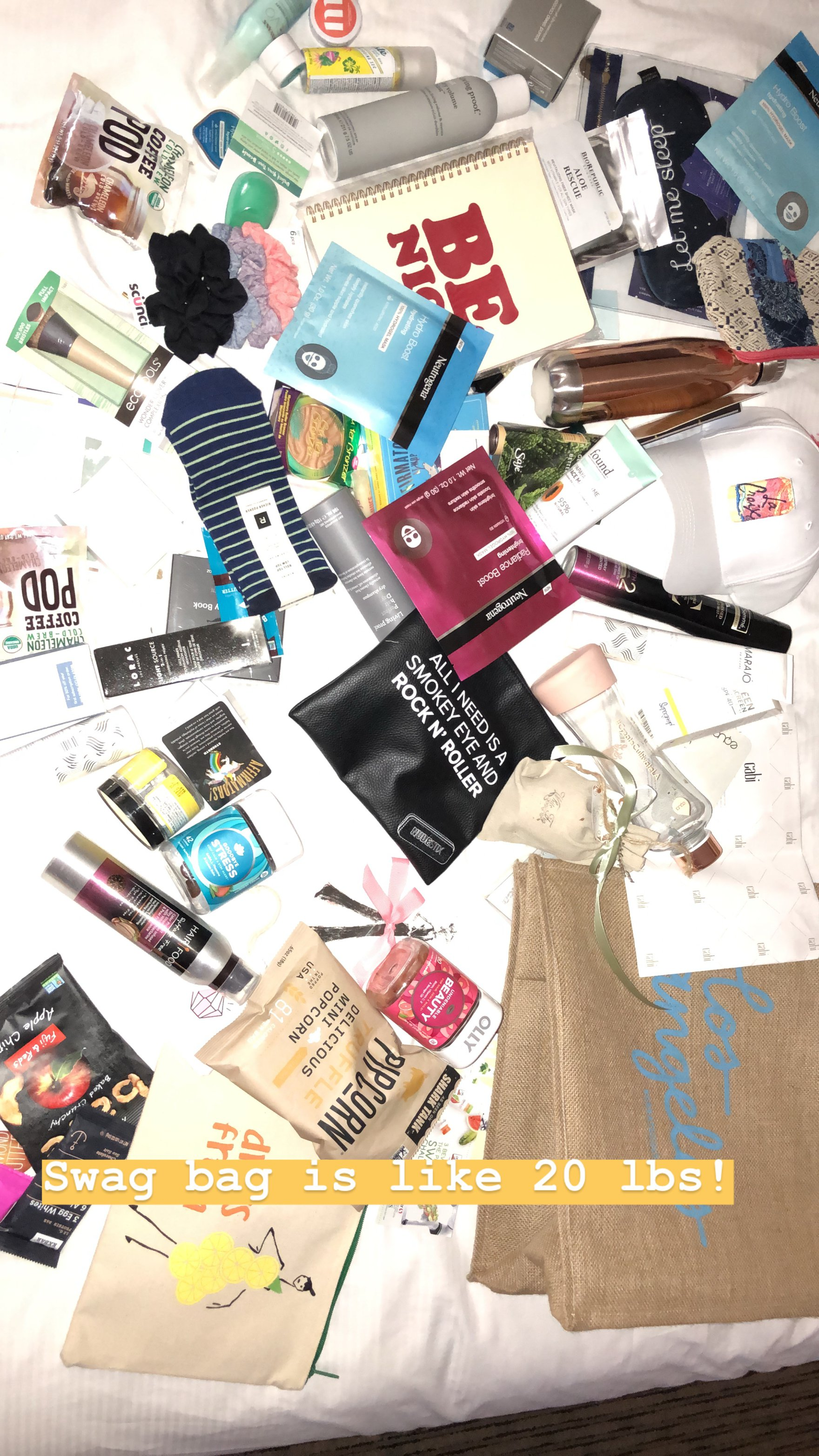 swag bag for blogger influencer conference create and cultivate Los Angeles 2018
