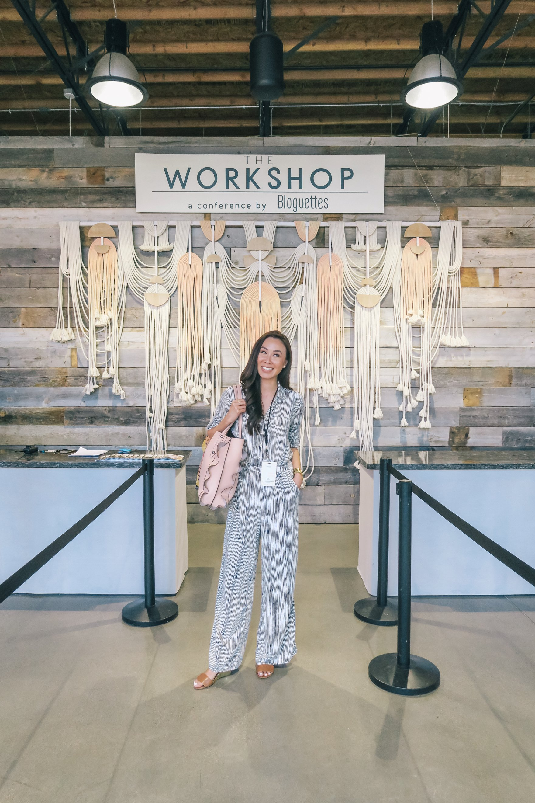 Anthropologie rope style backdrop // a business and blogging social media workshop called The Workshop PHX by the Bloguettes - a review.