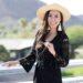 Diana Elizabeth Phoenix blogger in black romper and hat with tassel earrings - talking about if she likes phoenix