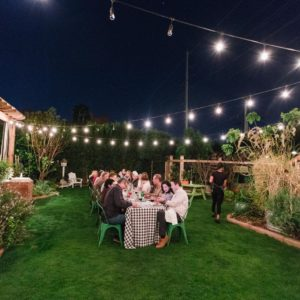 Boho Farm and Home Dinner theme Spain in backyard tapas. A night in the backyard