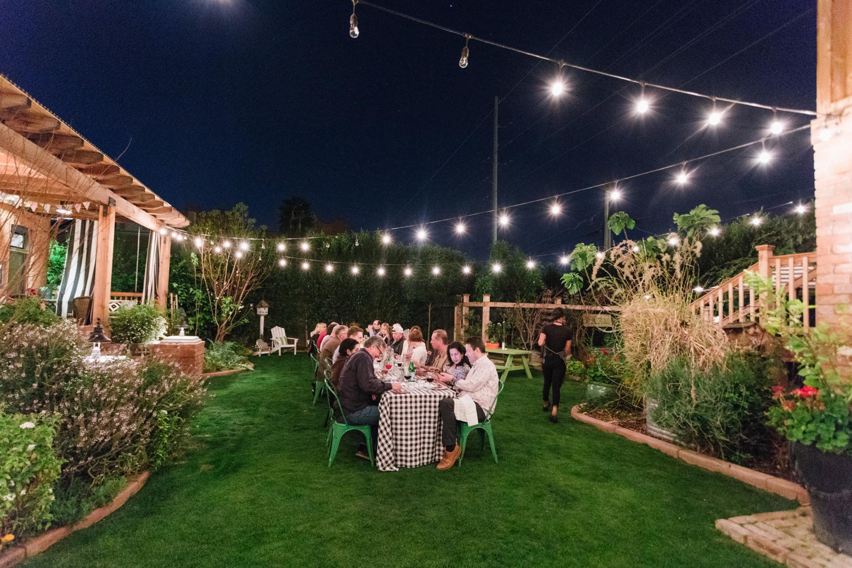 Boho Farm and Home Dinner theme Spain in backyard tapas. A night in the backyard