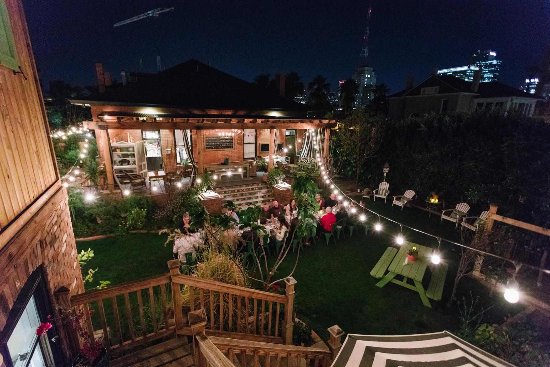 Boho Farm and Home Dinner theme Spain in backyard tapas. An evening under the stars with great company and food.