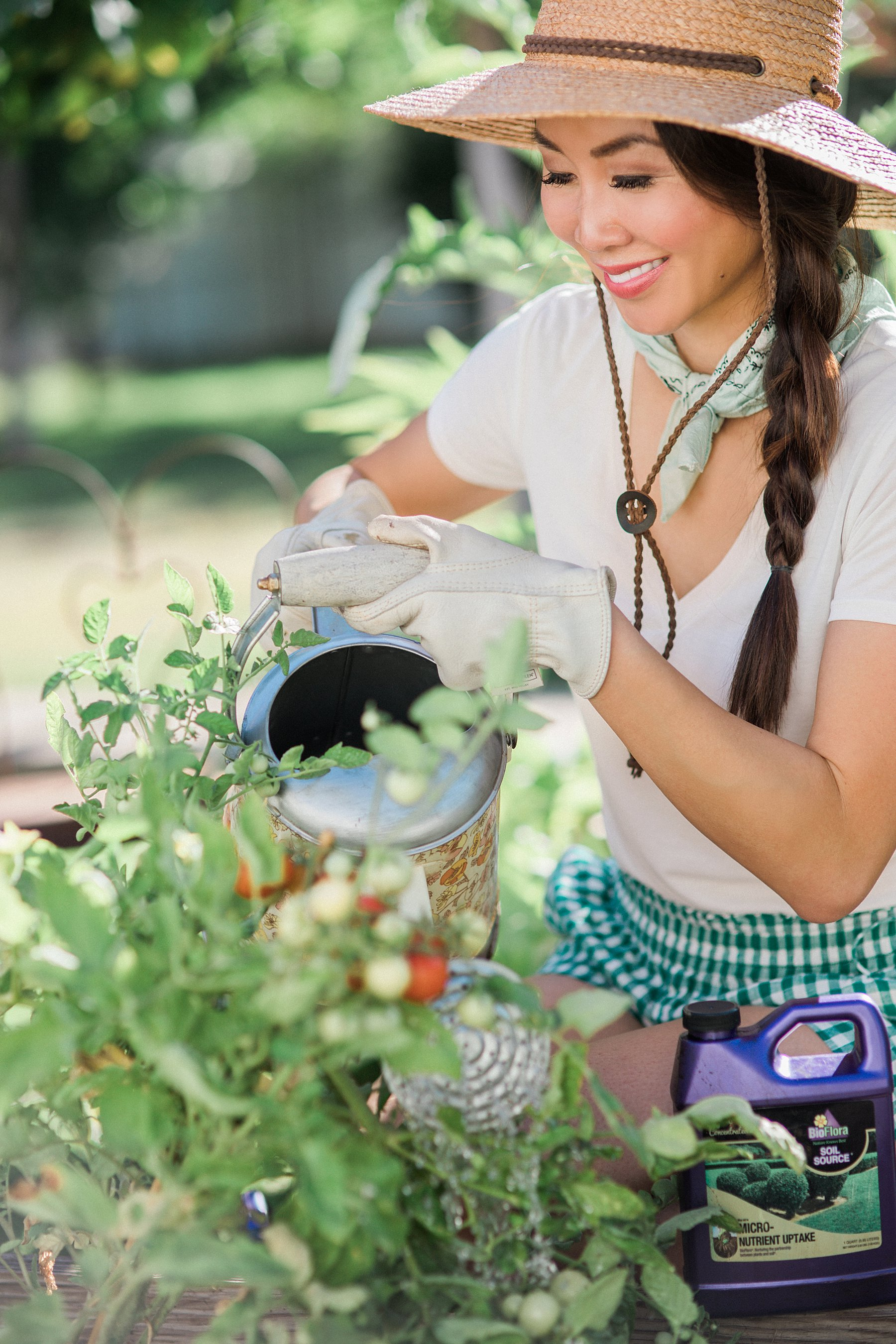 In the backyard garden with lifestyle blogger home and garden lover blogger: With BioFlora organic fertilization for gardens and shrubs and trees a review