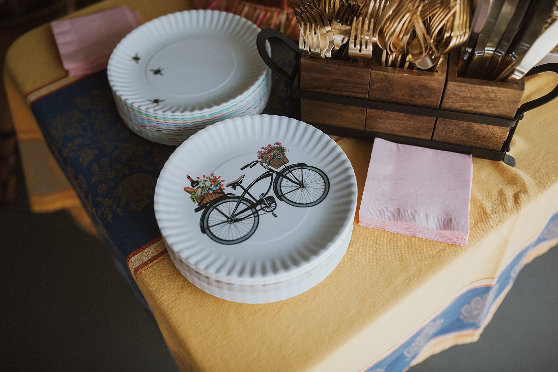 Boho bridal shower melamine plates