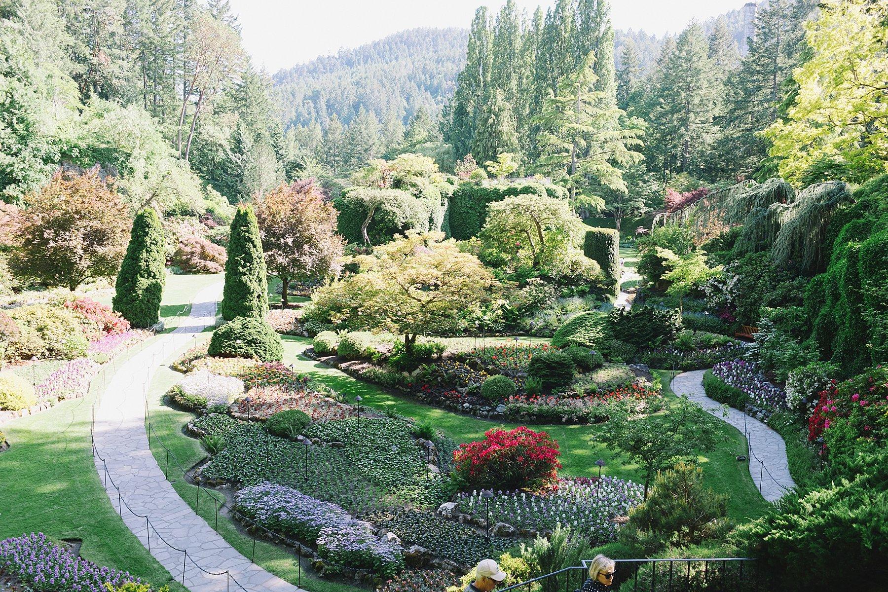 butchart gardens in Victoria Canada sunken garden